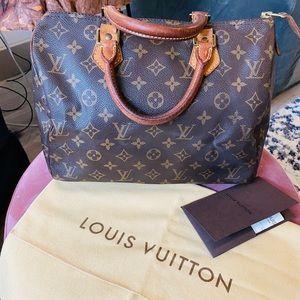 Louis Vuitton Monogram Speedy 30, 100% Authentic